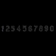 Набор цифр для маркировки сыра от 0 до 9